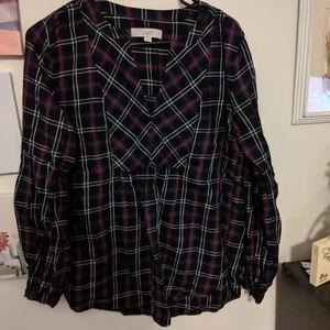 Plaid loft long sleeve shirt
